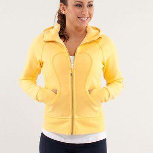 lululemon burning yellow scuba hoodie size 8